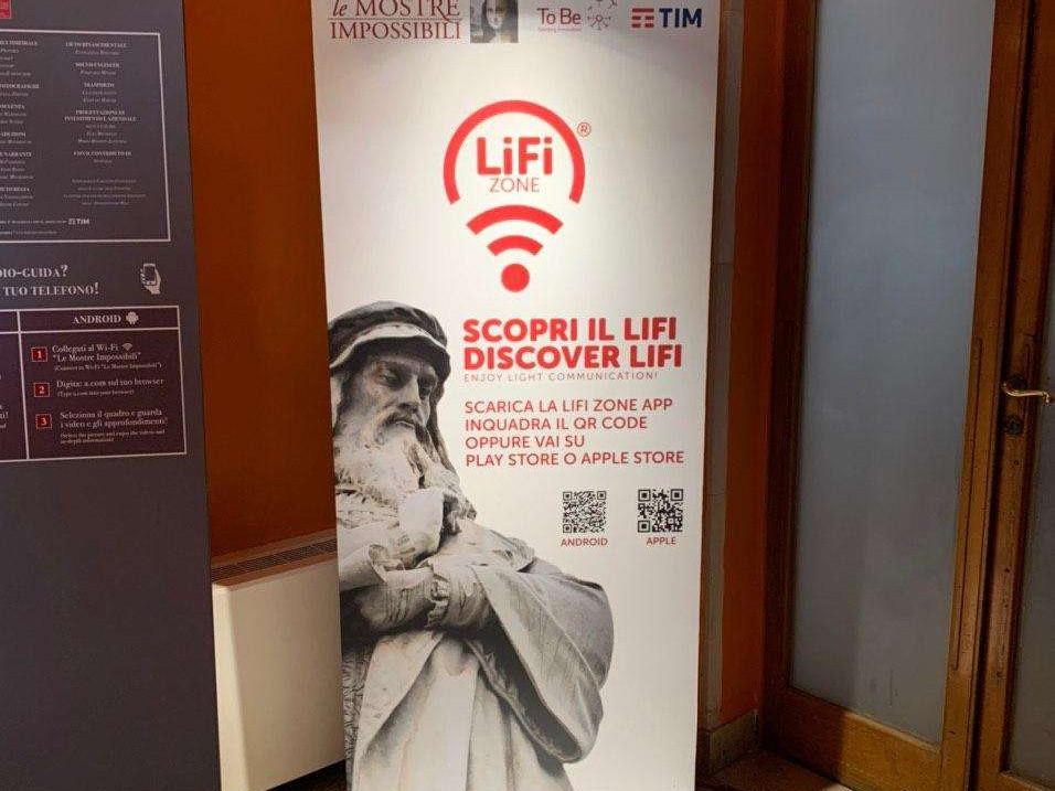 LiFiZone - Mostre Impossibili - LiFi VLC - Mostra Leonardo da Vinci - To Be Srl